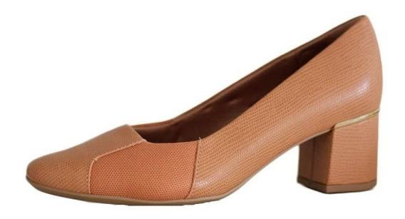 Sapato Usaflex Salto Grosso Lateral Para Joanete Preto 2611