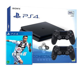 Ps4 Playstation 4 Hd 500gb Slim Cuh 2215 2 Controles Fifa 19