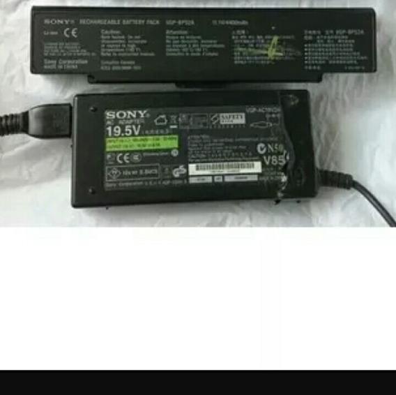 Bateria E Carregador Notebook Sony Vaio