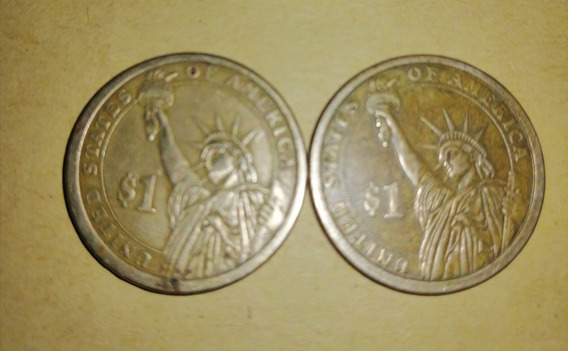 Moneda De 1 Dólar George Washington Y James Madison