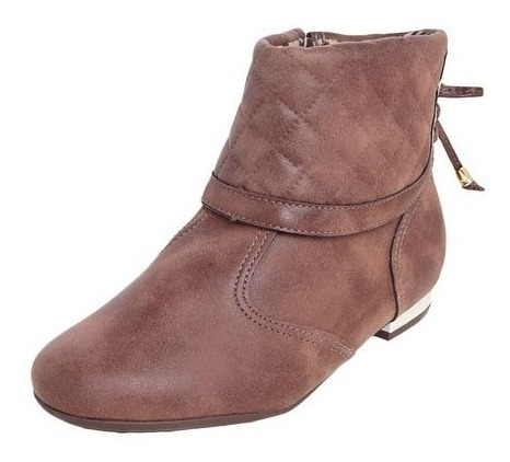 Bota Inf Piccadilly For Girls 089014 Marrom 6191 Cano Curto