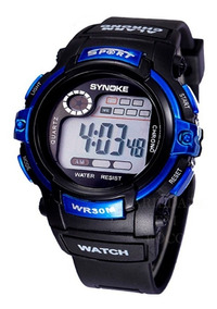 Relógio Infantil Synoke Digital Sport Luz De Led, Alarme