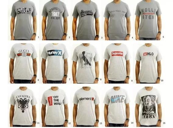 Camiseta Masculina Marcas Kit Com 20 Peças