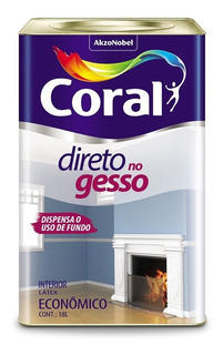 Tinta Direto No Gesso - Coral Branco Fosco - 18 Litros