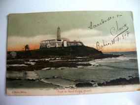 Cartão Postal Farol Da Barra Bahia 1907 J.mello