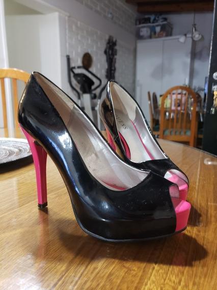 Zapatos Taco Rosa Guess