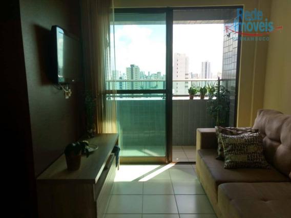 Apartamento Com 2 Dormitórios Mobiliado Para Alugar, 45 M² Por R$ 2.400/mês - Madalena - Recife/pe - Ap10001