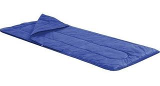 Saco De Dormir Para Acampamento Azul Solteiro 192x75 Cm