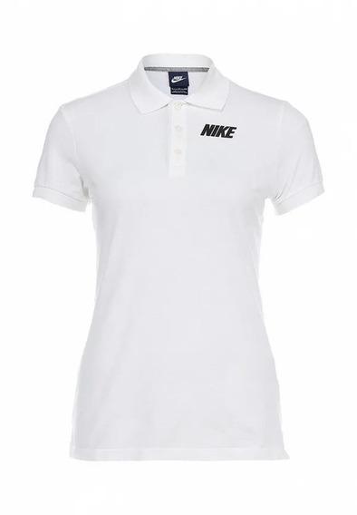 Playera Nike Mujer Blanco Polo 544322100