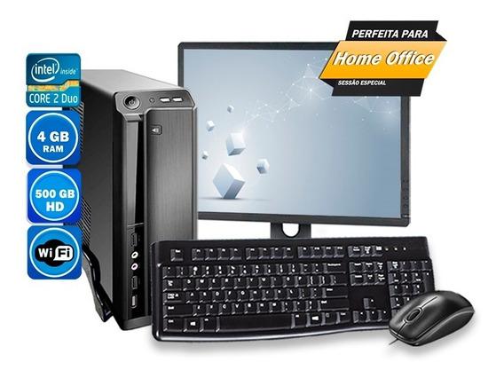 Computador Pc Completo Slim Intel Mini Atx 4gb Hd500gb 220v