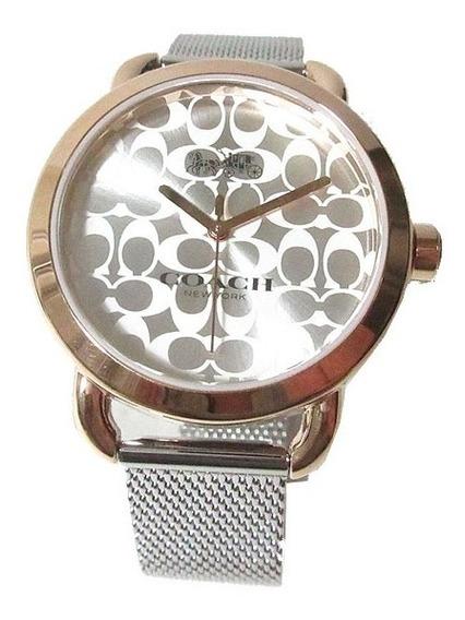 Reloj Coach Para Dama Plateado W6182