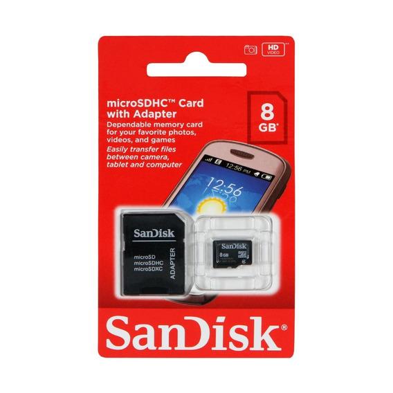 Cartão De Memória Micro Sd Sandisk 8gb Carta Registrada