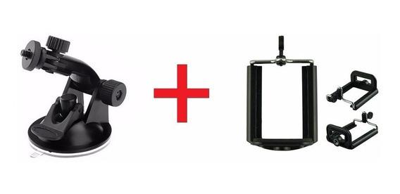 Suporte Universal Ventosa Sucção Vidro+ Adaptador Smartphone