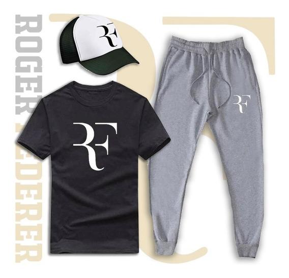 Combo Roger Federer Remera + Pantalon + Gorra Envío Gratis!