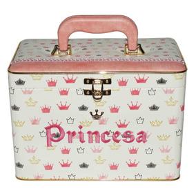 Álbum Box Princesa Coroas Rosa E Dourado 600 Fotos 10x15