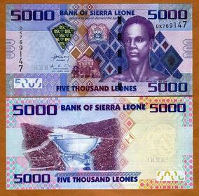 Serra Leoa 5000 Leones 2010 P. 32 Fe Cédula - Tchequito