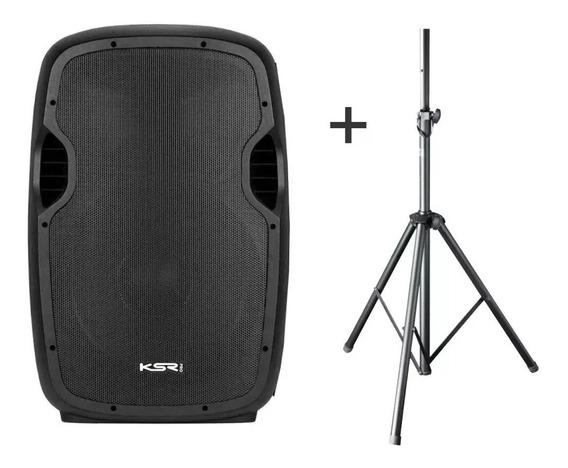 Caixa Ativa 15 Ksr Pro K815 Bluetooth Usb + Tripe