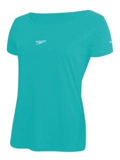 Camisa Speedo Interlock Verde Piscina