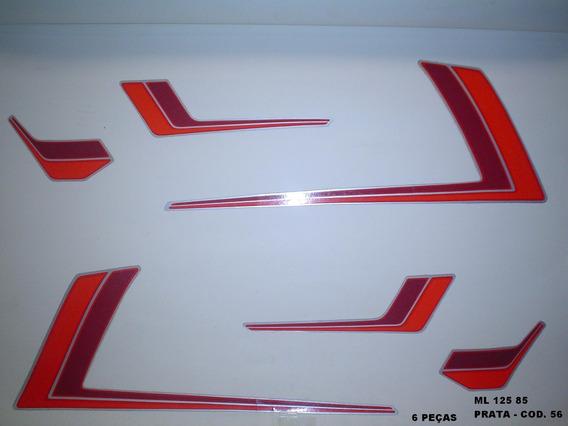 Faixas Cg 125 Ml 85 - Moto Cor Prata (56 - Kit Adesivos)
