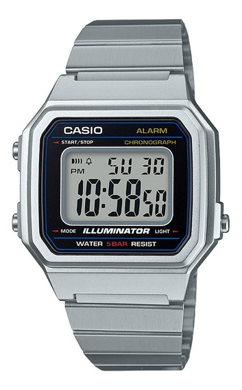 Relógio Casio Vintage B650wd-1adf Prata Digital Original