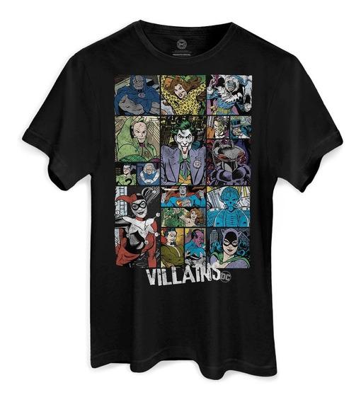 Camiseta Dc Comics Villains - Vilões Coringa