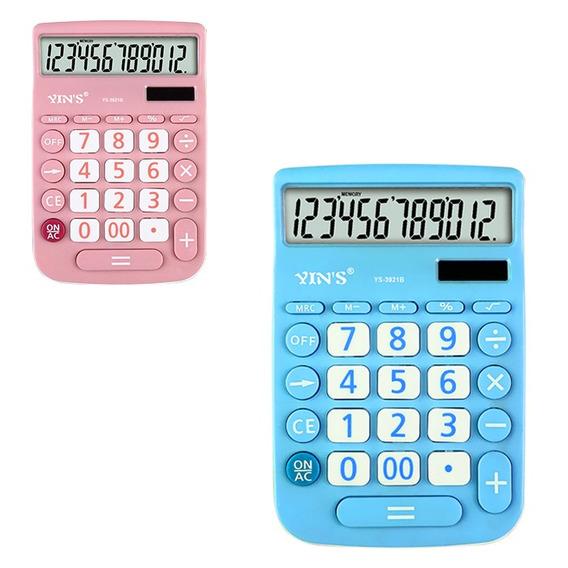 Calculadora De Mesa Eletrônica Digital 12 Dígitos Yin