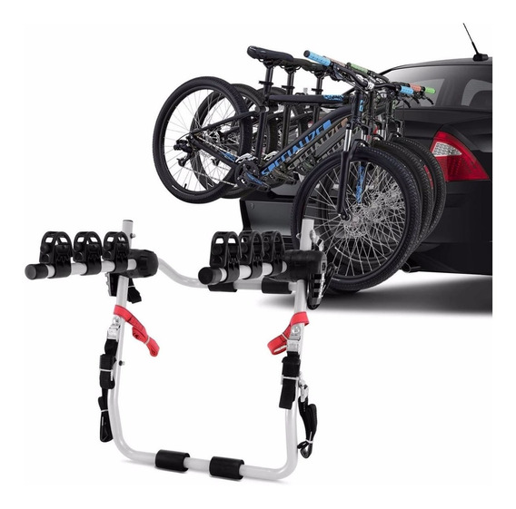 Suporte Transbike Porta Malas Universal Cinza Para 3 Bikes