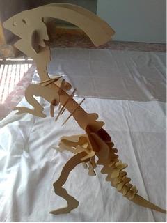 Rompecabezas De Dinosaurio 3d En Madera Parasaurolophus!