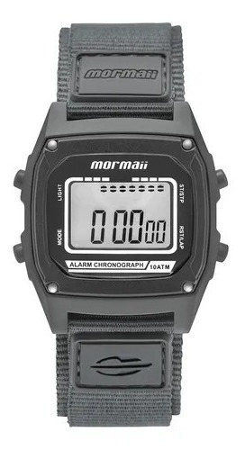 Relógio Masculino Mormaii Digital Puls Velcro Mon28ab/8c