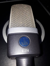 Mic Condensador Akg C214 - Perfeito Estado - Made In Austria