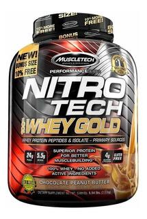 Nitrotech Whey Gold Muscletech Proteína De Suero X 5.5 Lbs