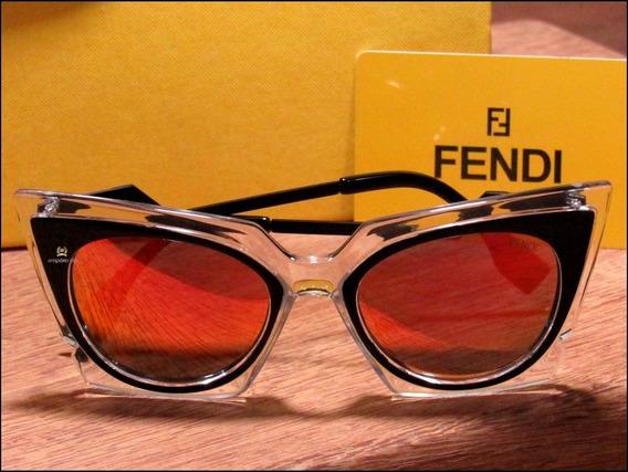 Óculos De Sol Fendi Orchidea Unisexx Já No Brasil °0978°