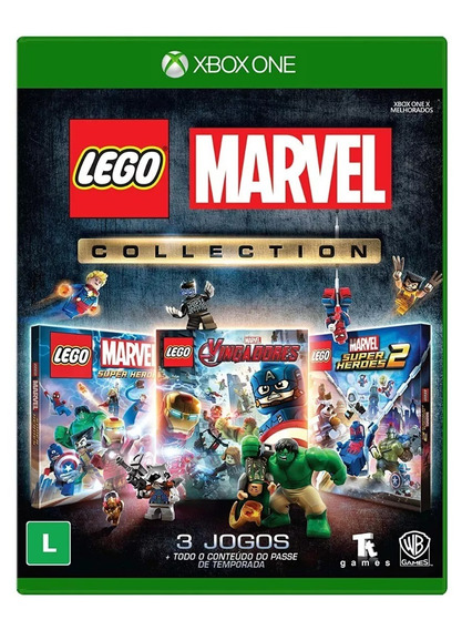 Lego Marvel Collection - 3 Jogos - Xbox One - Novo - Física