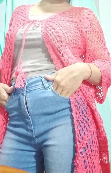 Cárdigan Tejido En Crochet