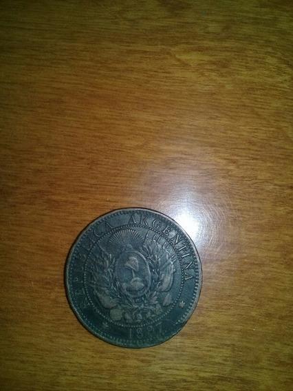 Moneda Argentina 2 Centavos De Patacón 1887