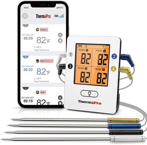 Termometro Bluetooth Thermopro Tp-25 4 Sondas Cocina Carne