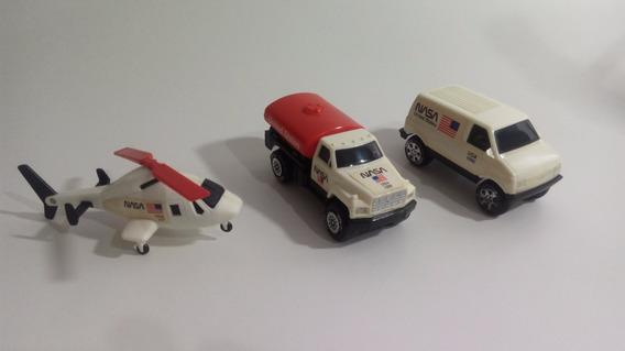 Nasa 3 Miniaturas Tonka 1988 Caminhões E Helicóptero
