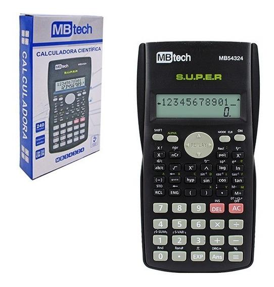 Calculadora Mb Tech Científica 240 Funções 2 Linhas Oferta