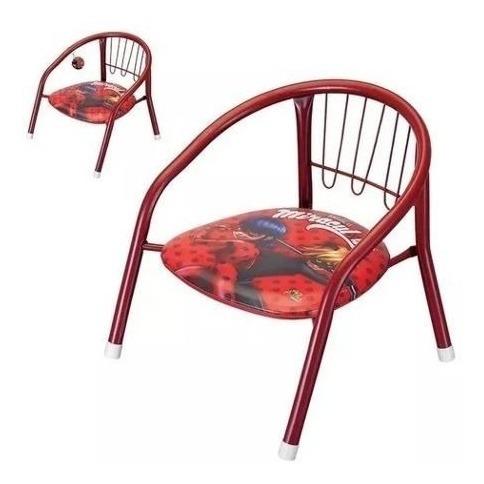 Cadeira Lady Bug Infantil Metal Apito Assento - Otimo!!