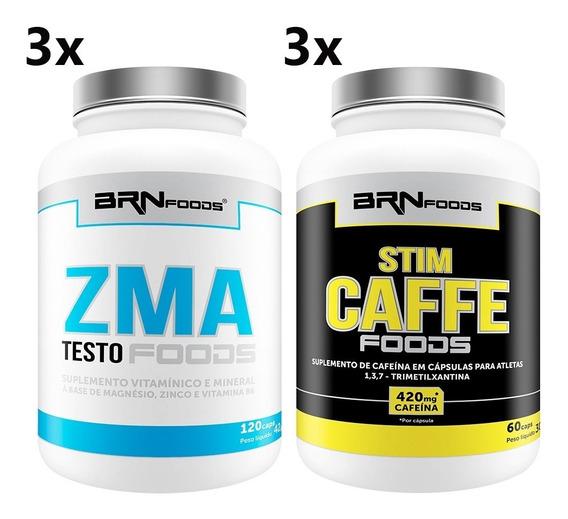 3 Zma -120 Cáps + 3 Stim Caffe- 60 Cáps
