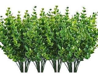 Cowalkers Arbustos Artificiales Sintética Plástico Hojas De