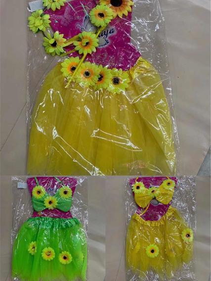 Kit Saia De Girassol Para Carnaval