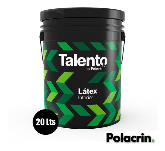 Pintura Latex Blanca Interior 20 Lts Talento Envio Cuota