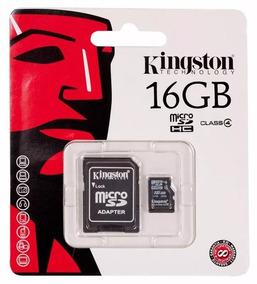 Cartão Memória Micro Sd 16gb Lacrado + Adaptador Sd Original