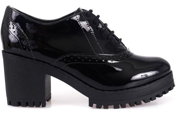 Sapato Feminino Tratorado Bebecê Preto - Frete Grátis