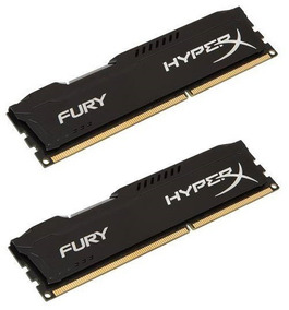 Kit 2x Memória Ddr3 Kingston Hyperx Fury Black 4gb 1866mhz