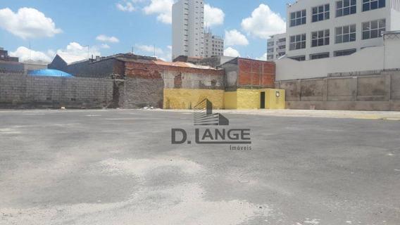 Terreno Com Excelente Localização No Centro De Campinas - Te3985