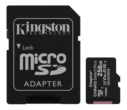 Memoria Micro Sd Kingston 256gb Canvas Select Plus 100mb/s