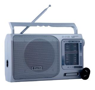 Radio Portatil Spica Sp 7150 Am/fm Pilas Y Electrica