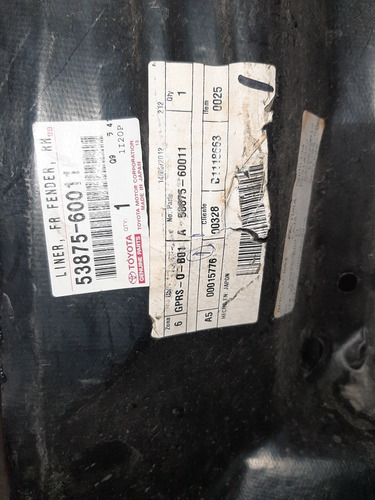 Guardapolvo Delantero Izquierdo Toyota Meru Original